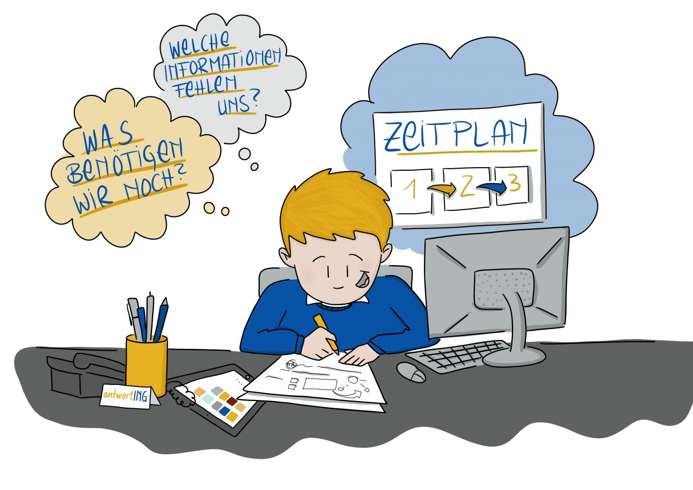 Projektablauf antwortING Schritt 2 Planung