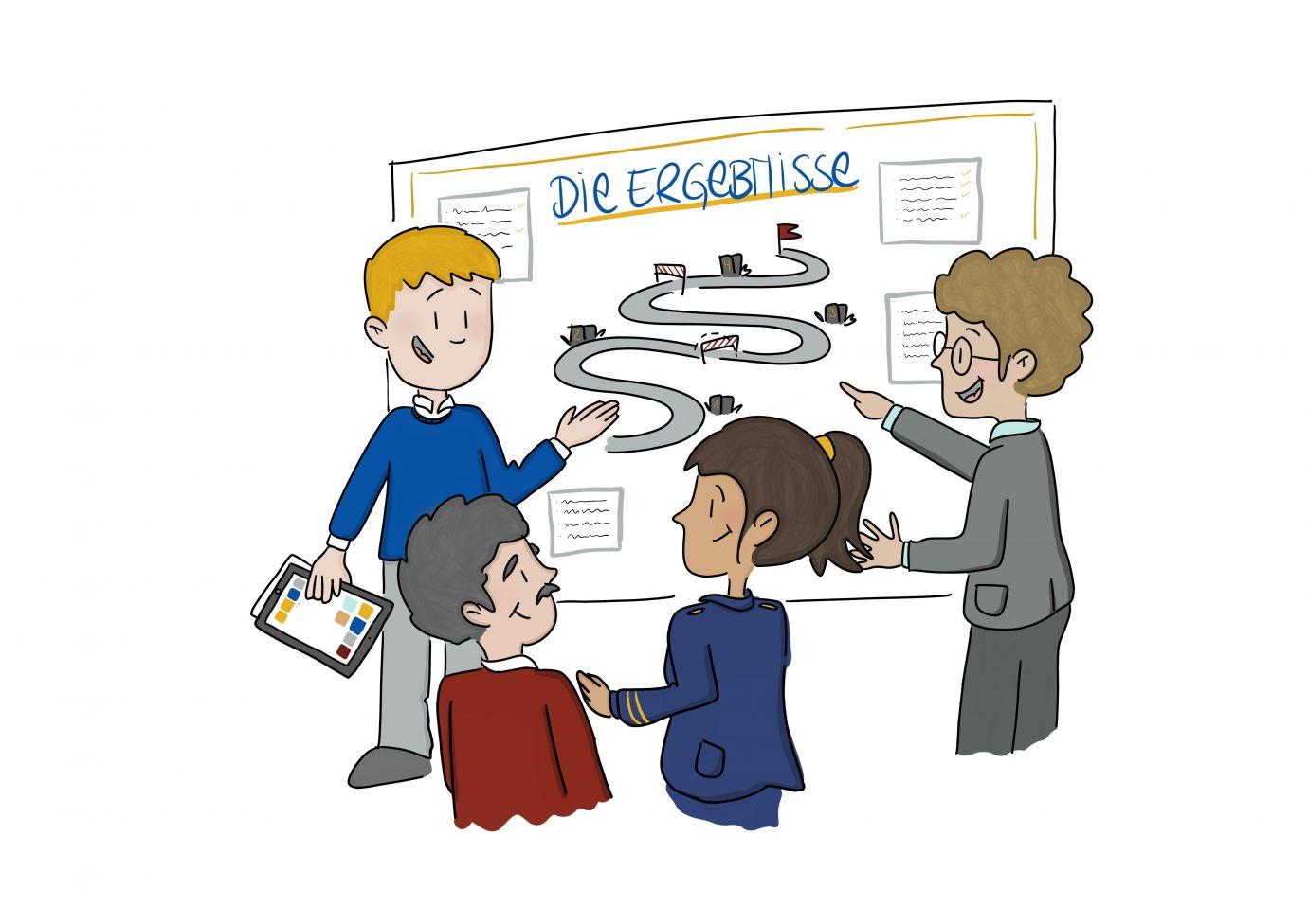 Projektablauf antwortING Schritt 6 Vorstellung der Ergebnisse